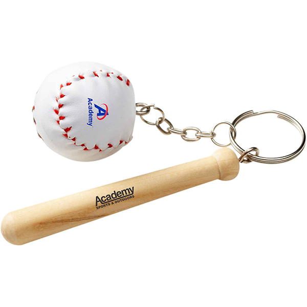 Promotional Baseball Bat Keychain