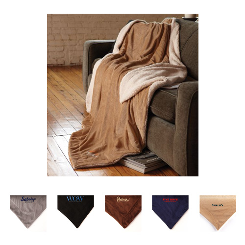 Promotional Oversized Micro-Mink Sherpa Blanket