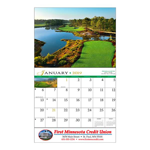 View Image 3 of Golf Wall Calendar