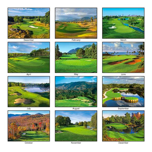 View Image 2 of Golf Wall Calendar