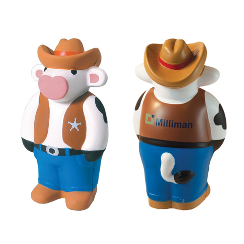 Promotional Cowboy Cow Stress Reliever