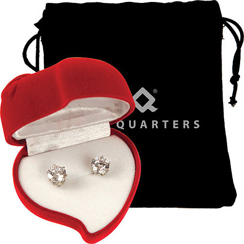 Promotional Cubic Zirconia Earrings with Heart