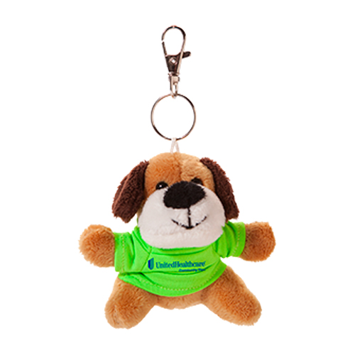 Promotional Dog-Plush Keychain