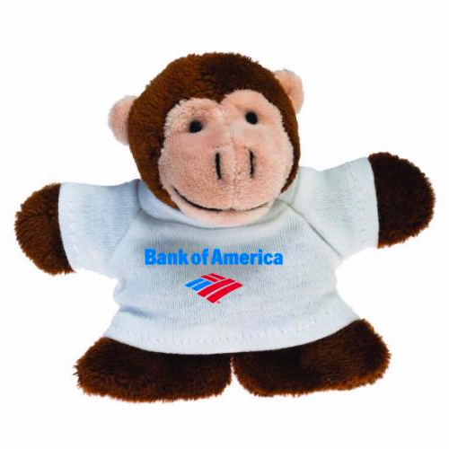 Promotional Monkey Plush Magnet