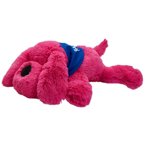 Promotional Plush Dog- Neon Pink