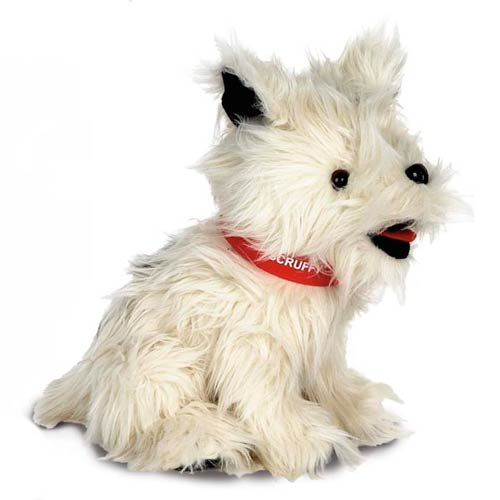 Promotional White Terrier Plush Toy