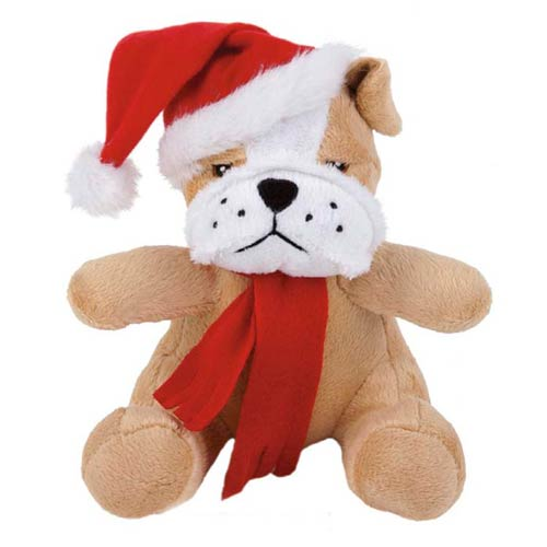 Promotional Extra Soft Christmas Bulldog