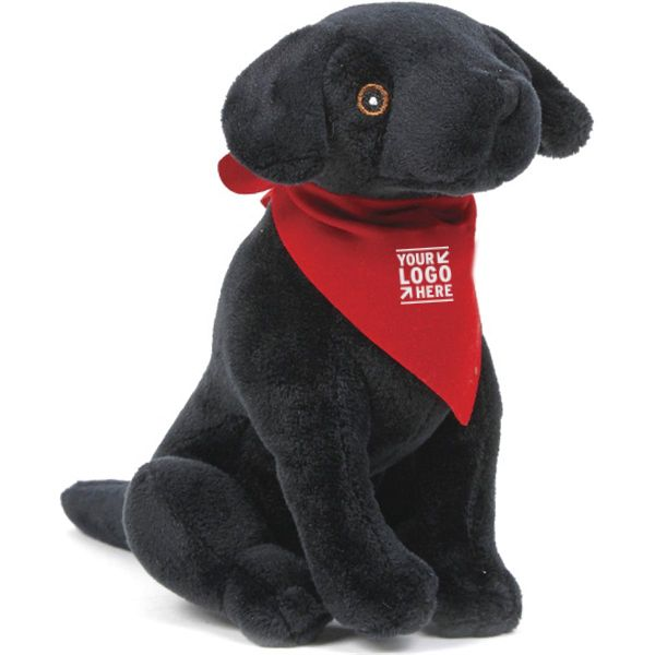 Promotional Black Lab Plush Toy