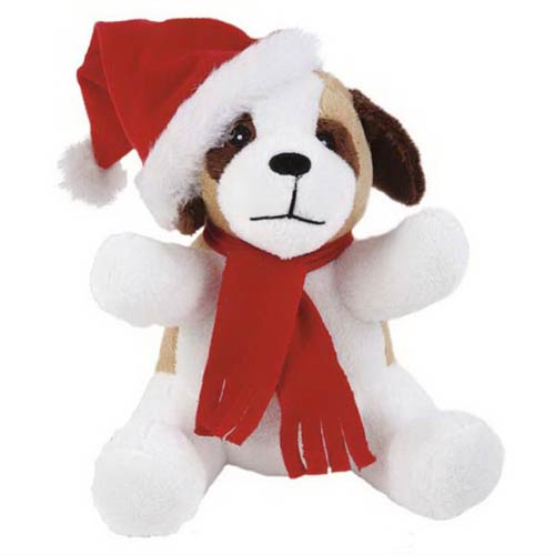 Promotional Extra Soft Christmas Saint Bernard