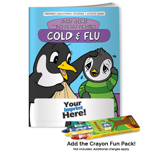 Promotional Fight Germs with Pengy Penguin  Coloring Book