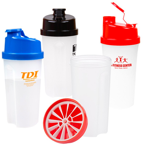 Promotional Plastic Fitness Shaker with Measurements - 20oz.