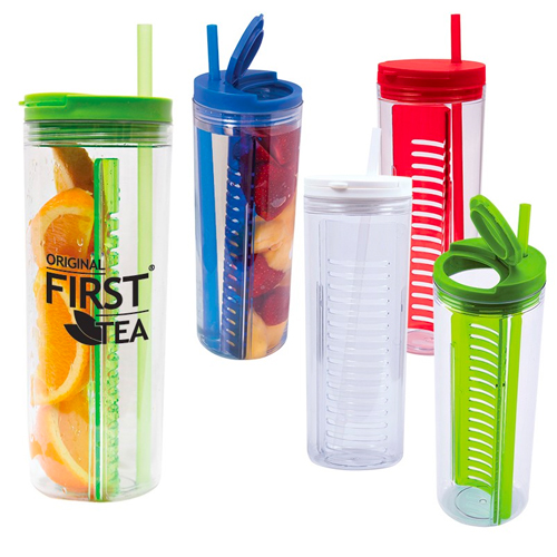 Promotional Fruit Infusion Straw Tumbler - 20oz.