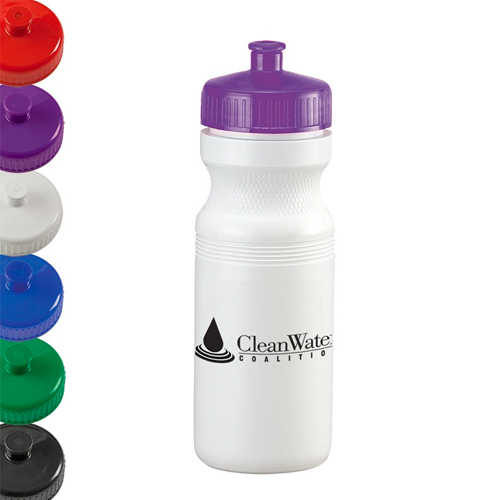 Promotional White Water Bottle - 24oz.