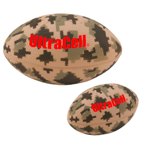 Promotional Digital Camouflage Football Stress Reliever - 5