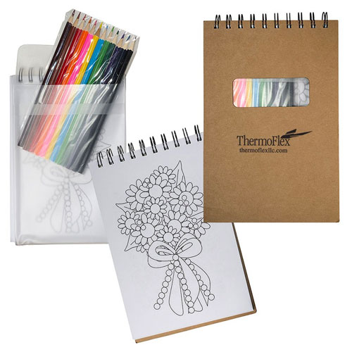 Promotional Notebook w/ Colored Pencils