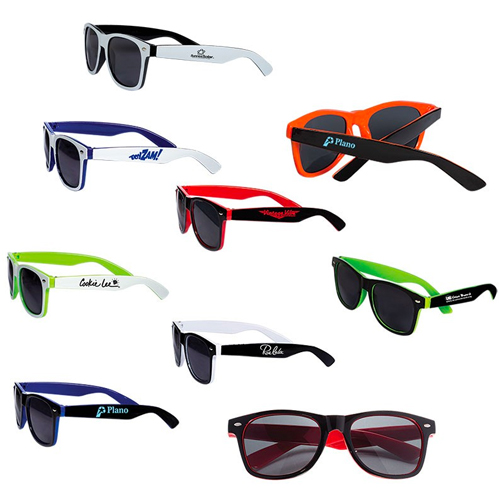 Promotional Two-Tone Glossy Sunglasses