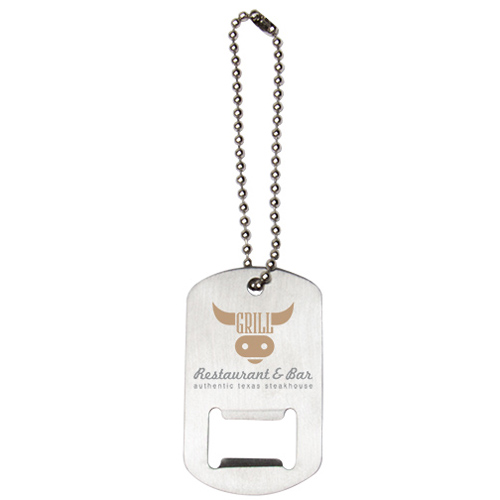 Promotional Dog Tag Bottle Opener