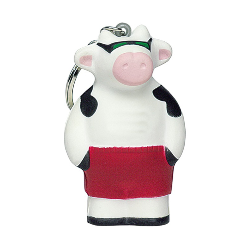 Promotional Cool Beach Cow Squeezie Keyring