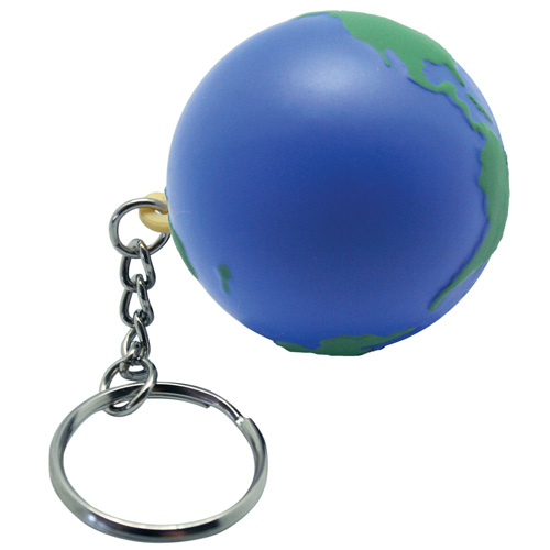 Promotional Earth Stress Reliever Keychain
