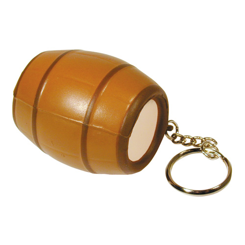 Promotional Barrel Squeezie Keyring