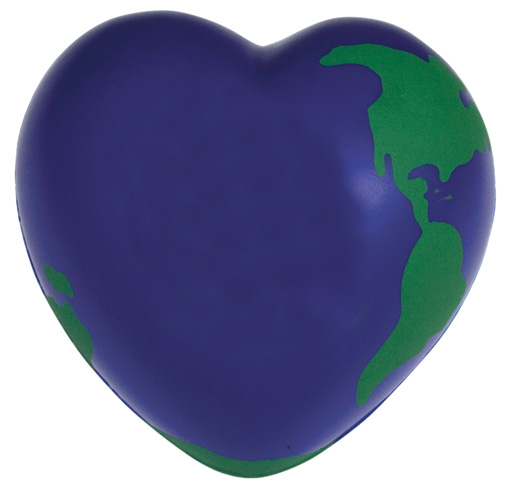 Promotional Earth Heart Stress Reliever