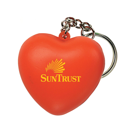 Promotional Heart Squeezie Key Ring