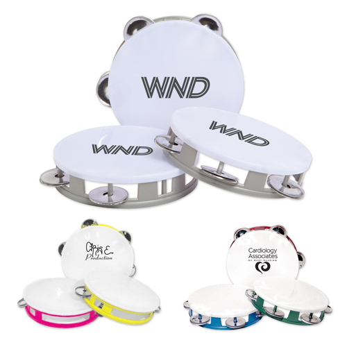 Promotional White Top Tambourines