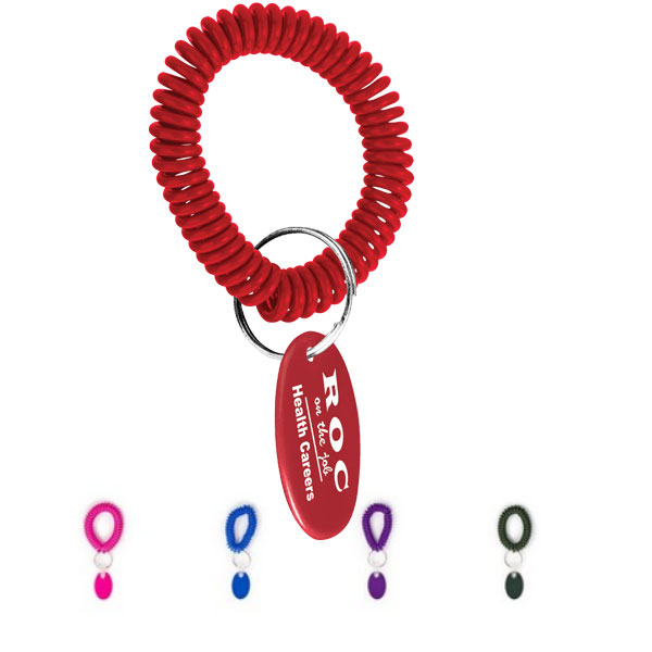 Promotional Wrist Coil Key Ring
