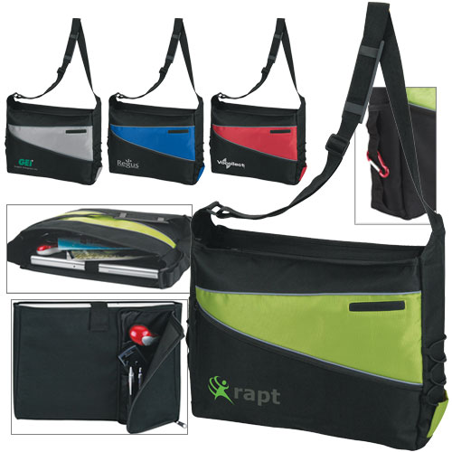 Promotional 2 Tone Computer Messenger Bag