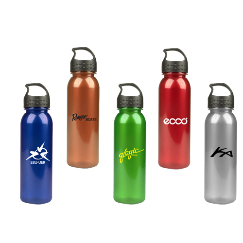Promotional 24 Oz Metalike Bottle with Crest Lid