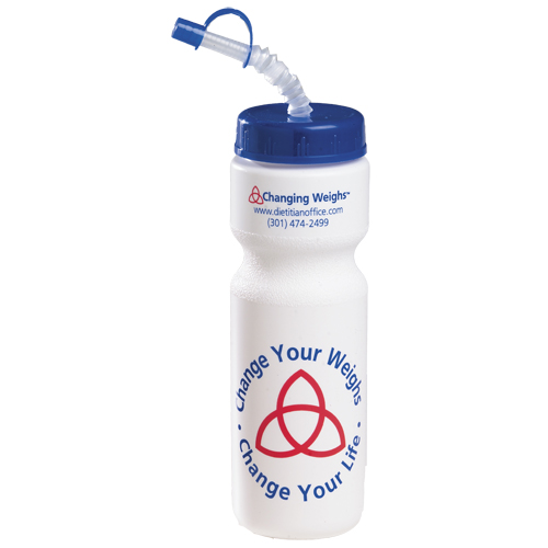 Promotional 28 oz Bike Bottle w/ Straw - BPA Free