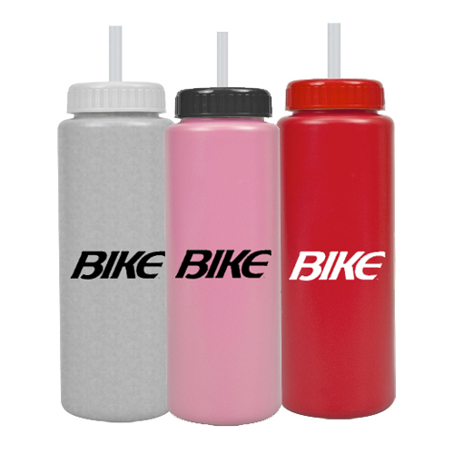 Promotional 32 oz Sports Bottle Colors w/ Straw - BPA Free