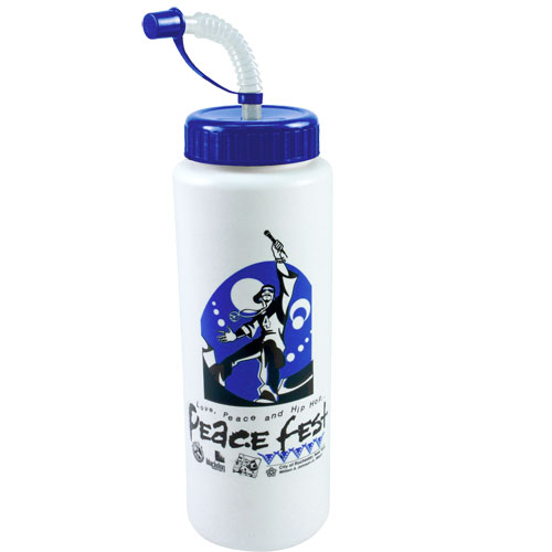 Promotional 32 oz Sports Bottle w/ Straw - BPA Free