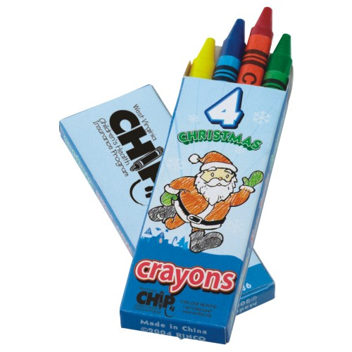 Promotional 4 Count Seasons' Greetings Crayon Pack