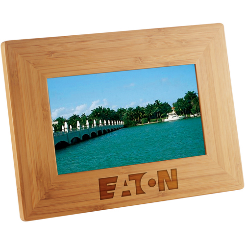 Promotional 7 Inch Bamboo Digital Photo Frame