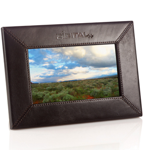 Promotional 7 Inch Leather Digital Photo Frame
