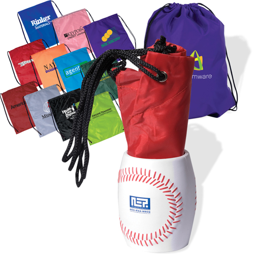 Promotional Bag In Baseball Can Holder Combo