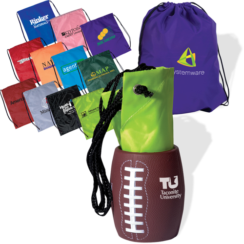 Promotional Bag-In-Football Can Holder Combo
