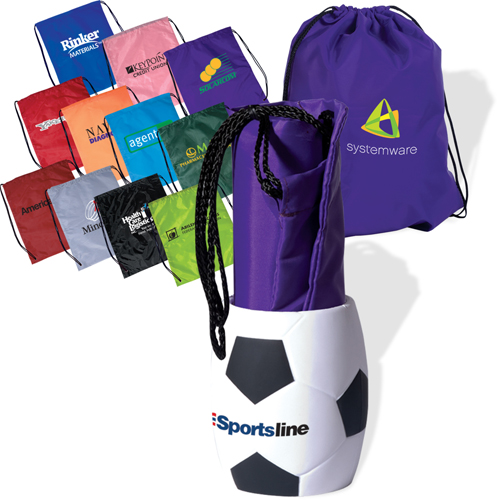 Promotional Bag-In-Soccer Can Holder Combo
