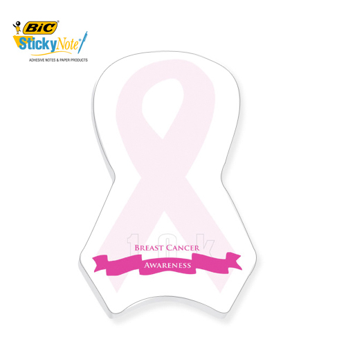 Promotional Bic Pink Ribbon Sticky Notes