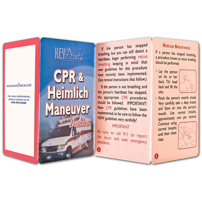 Promotional CPR & Heimlich Maneuver Basics Guide