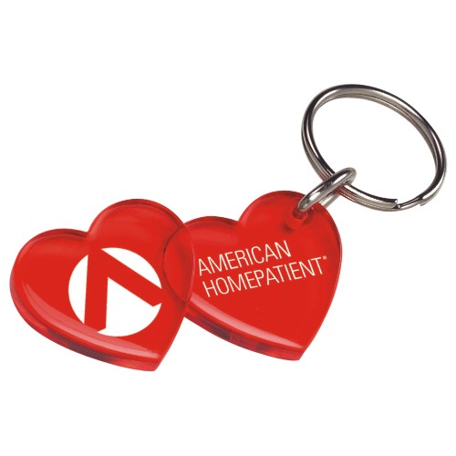 Promotional Double Heart Keychain