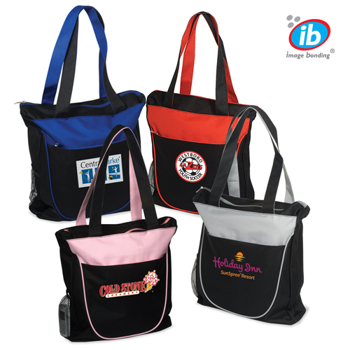 Promotional Duo Toned Zippered Tote