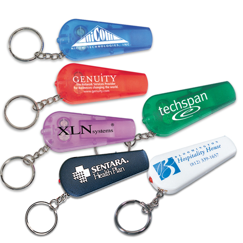 Promotional Light Up Key Tag with Whistle