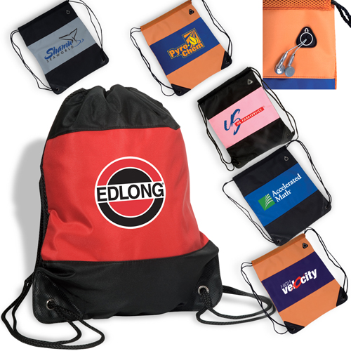 Promotional Microfiber String Backpack