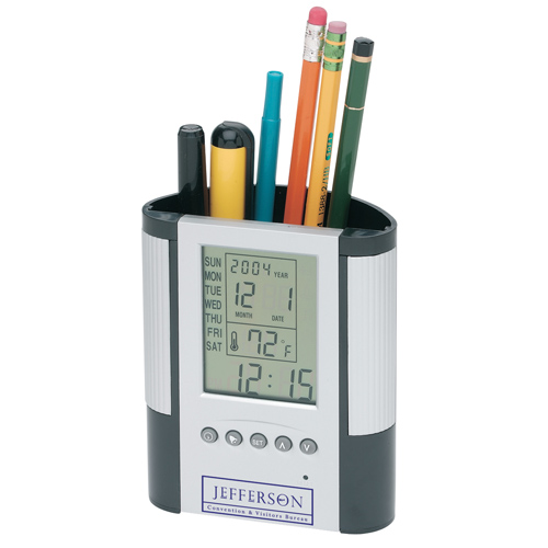 Promotional Pen Holder with Clock