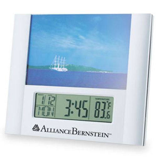 Promotional Photo Frame Calendar Clock 4x6inch