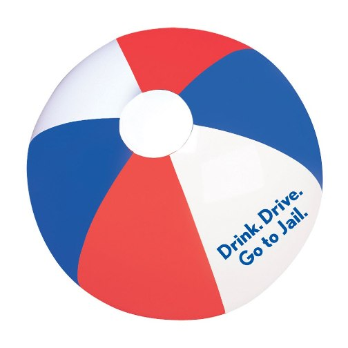Promotional RWB Beach Ball 16 Inch