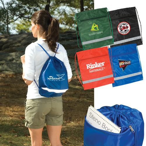Promotional Zippered String Backpack