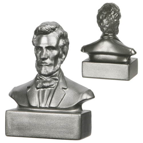 Promotional Abraham Lincoln Bust Stress Reliever